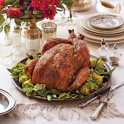 sl-Dry Brined-Herb Roasted Turkey