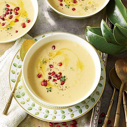 Roasted Cauliflower-and-Garlic Soup