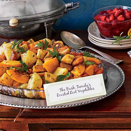 Roasted Root Vegetables with Cider Glaze