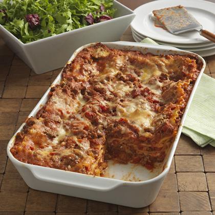 Cheesy Beef Lasagna