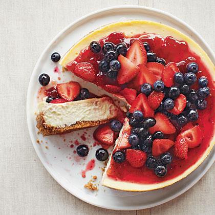 Strawberry-Blueberry Cheesecake