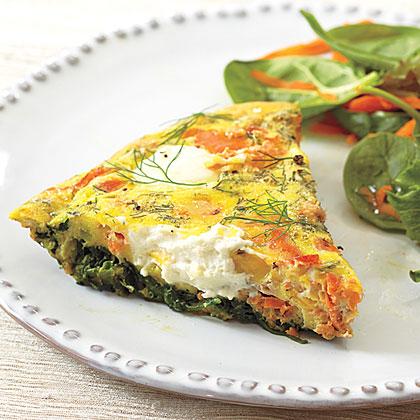Salmon-Spinach Frittata