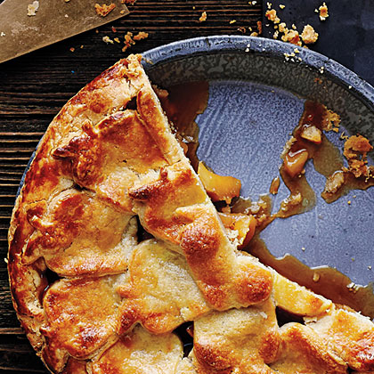 Caramel Apple Pie with Pastry Cutouts