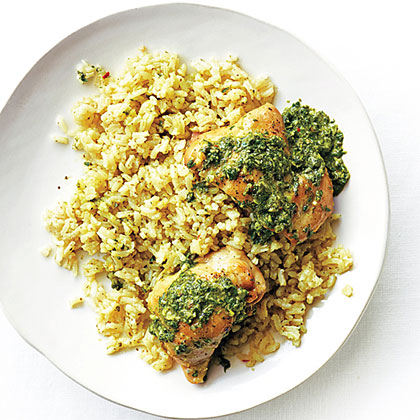 <p>Chimichurri Chicken and Rice</p>