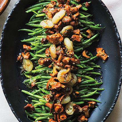 Green Beans with Chanterelles and Cipollini Recipe | Myrecipes