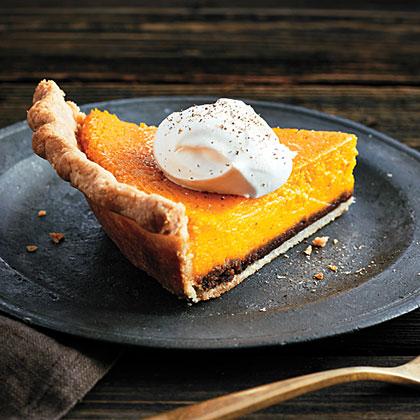 <p>Kabocha Squash Crème Fraîche Pie</p>