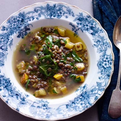 Lentil and Swiss Chard Soup With Lemon