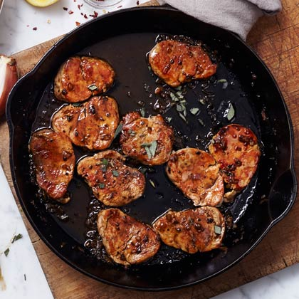 Pork Medallions With Cider-Sage Sauce