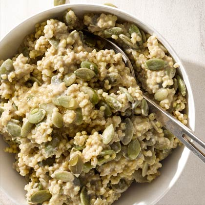 Spiced Pumpkin Seed and Millet Cereal