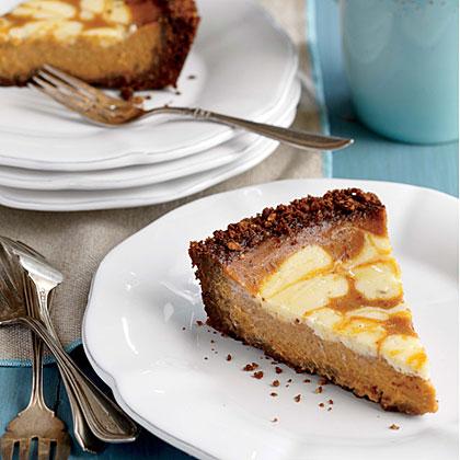 Pumpkin Swirl Pie with Gingersnap Crust