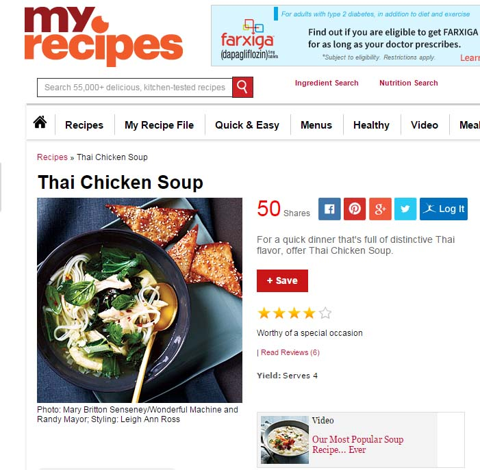 MyRecipes + MyFitnessPal = Calorie-Counting Bliss