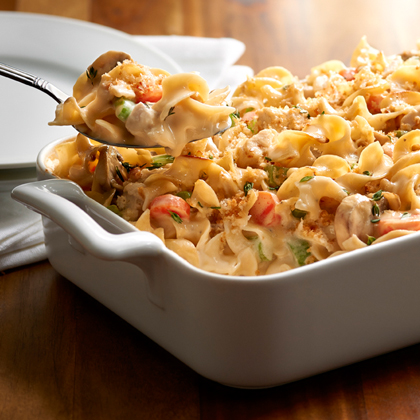 <p>No Yolks® Creamy Chicken Noodle Casserole</p>