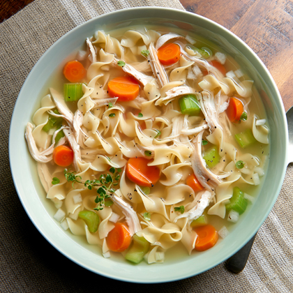 <p>No Yolks® Chicken Noodle Soup</p>
