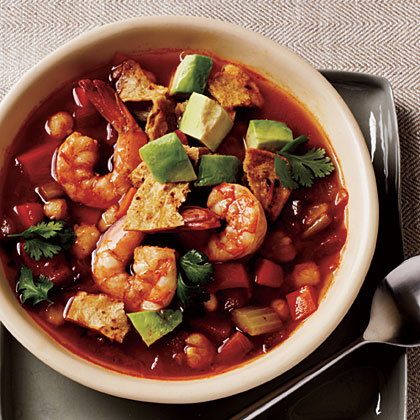 How to Cook Spicy Tortilla Soup with Shrimp and Avocado
