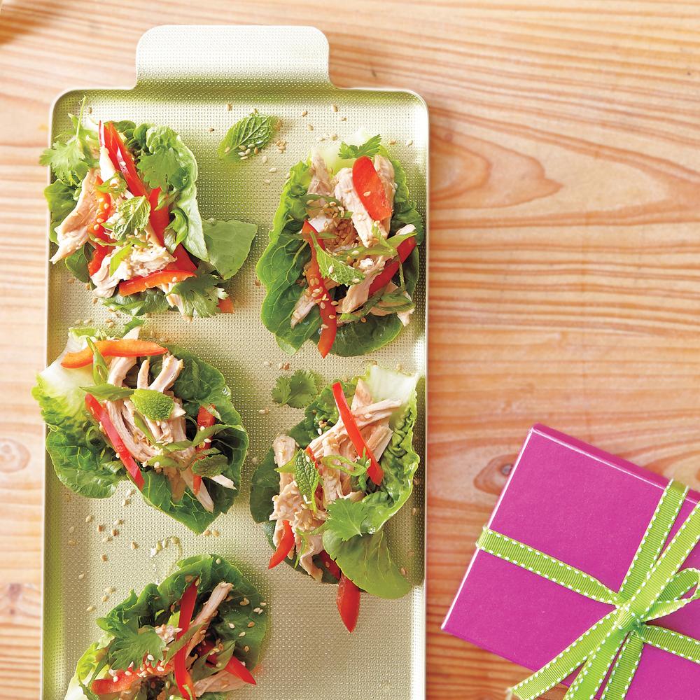 Asian Chicken Salad Lettuce Wraps