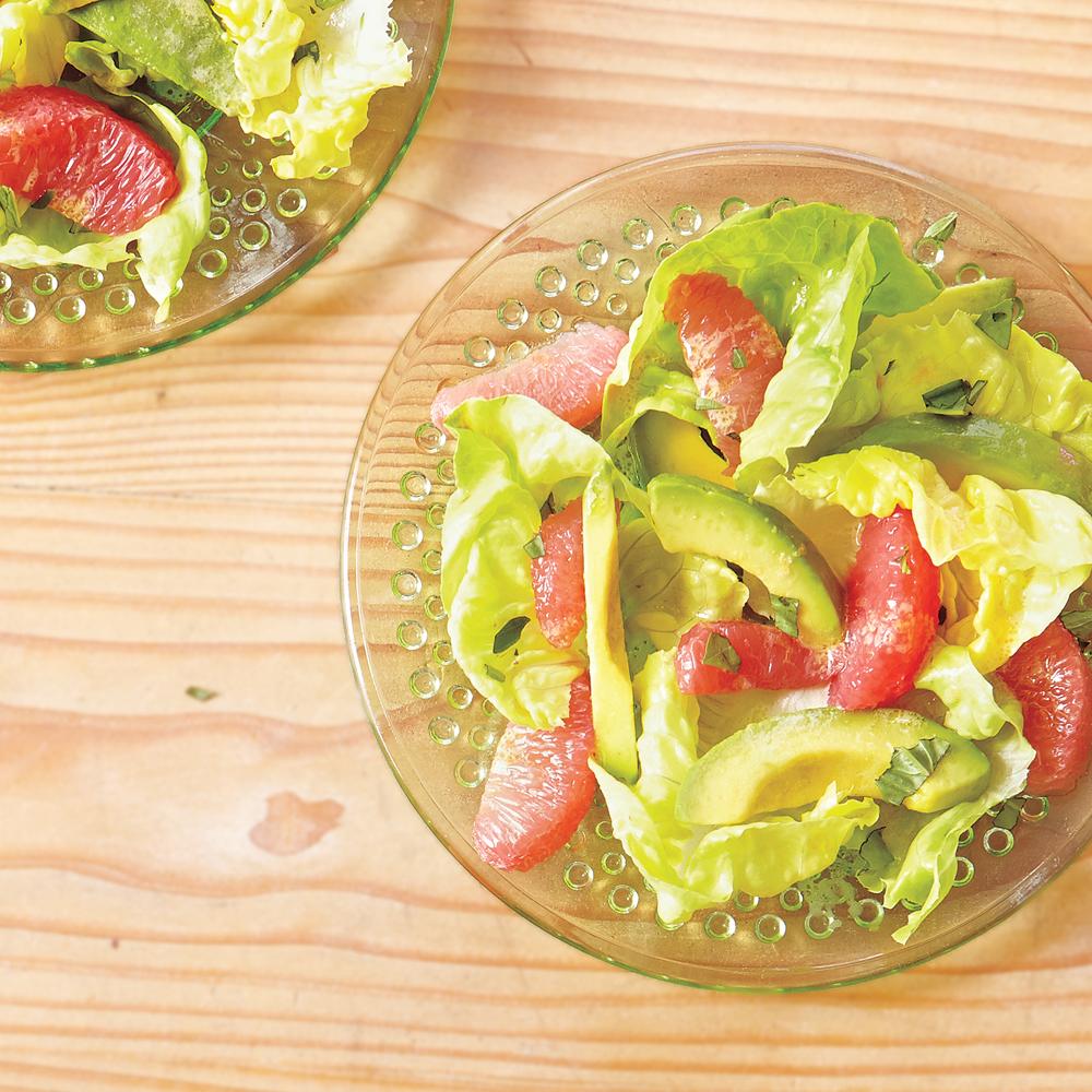 Butter Lettuce, Avocado and Grapefruit Salad