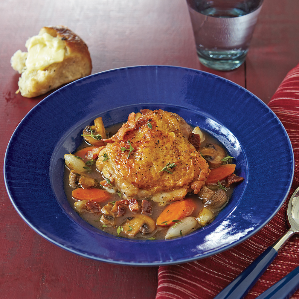 Chicken Stew with Red Wine