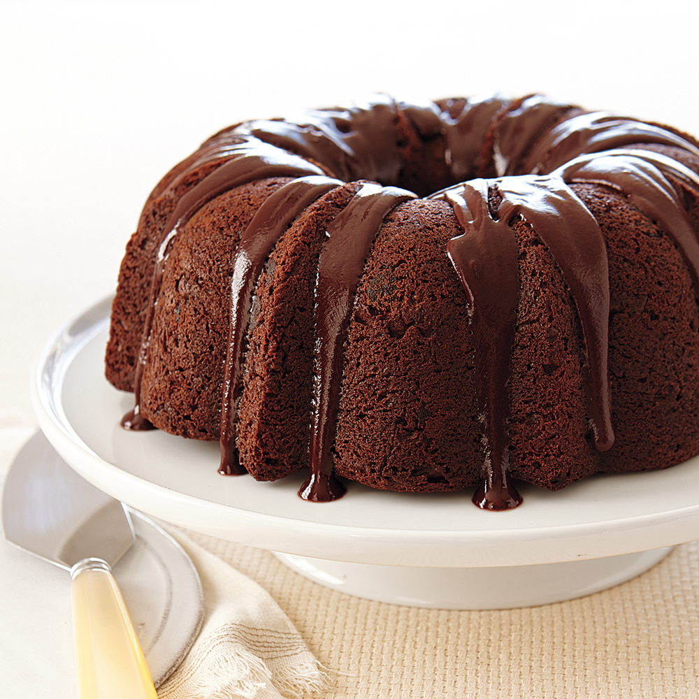 Images Of Chocolate Chip Cake : Chocolate Chocolate-Chip Cake Recipe MyRecipes