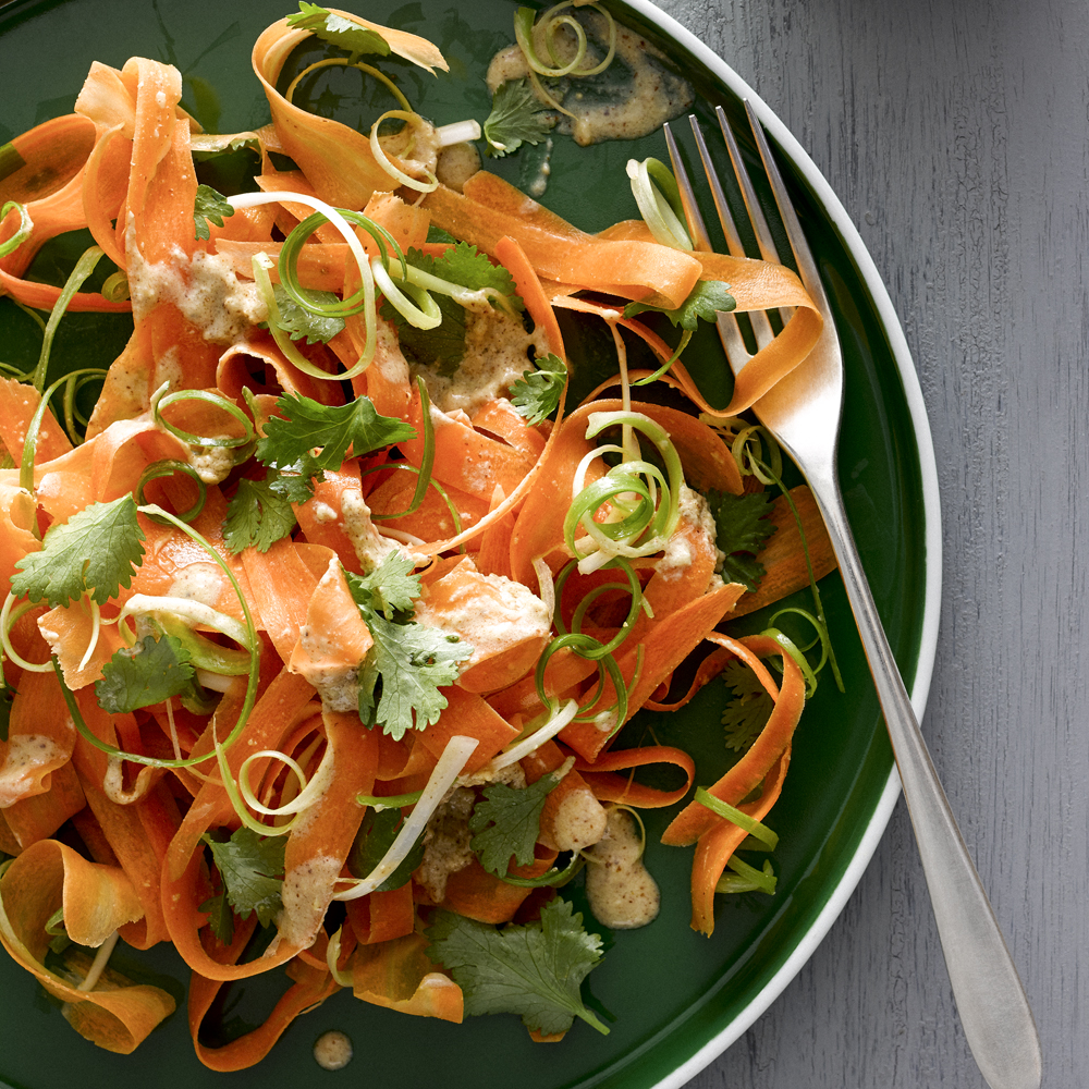 Carrot Salad with Nut Butter-Ginger Dressing