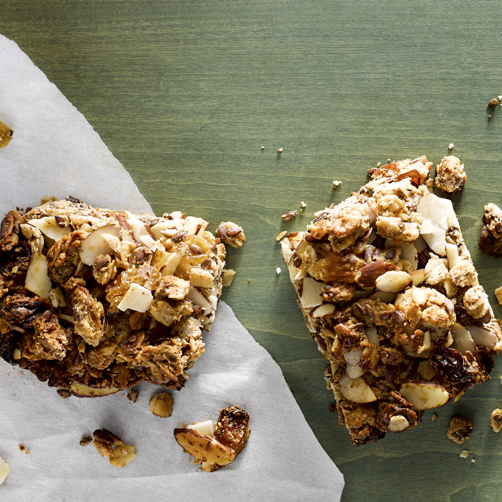 Golden Fruit and Nut Granola Bars