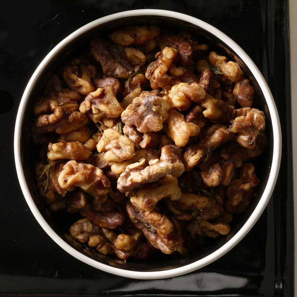 Spicy Rosemary Walnuts                            Recipe