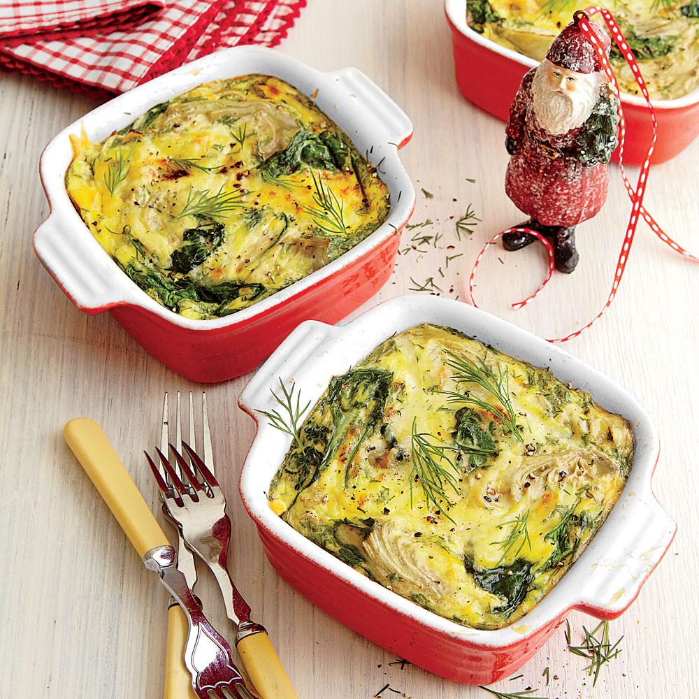 Spinach, Artichoke, and Gouda Casserole