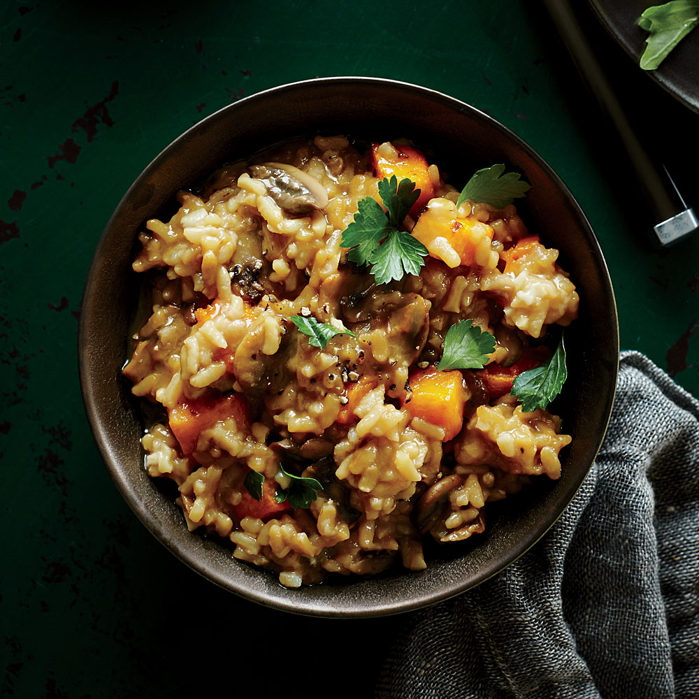 Mushroom And Roasted Butternut Squash Risotto Recipe