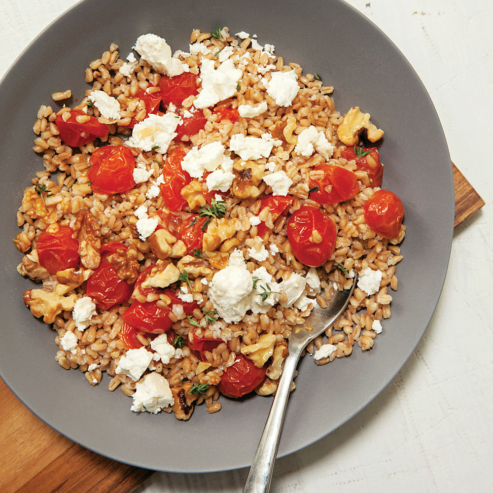 Farro with Honey-Garlic Roasted Tomatoes