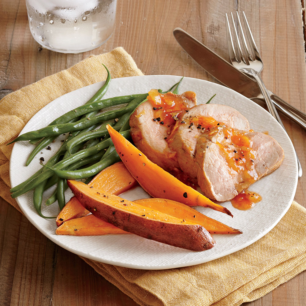 Chile-Orange Glazed Pork Tenderloin