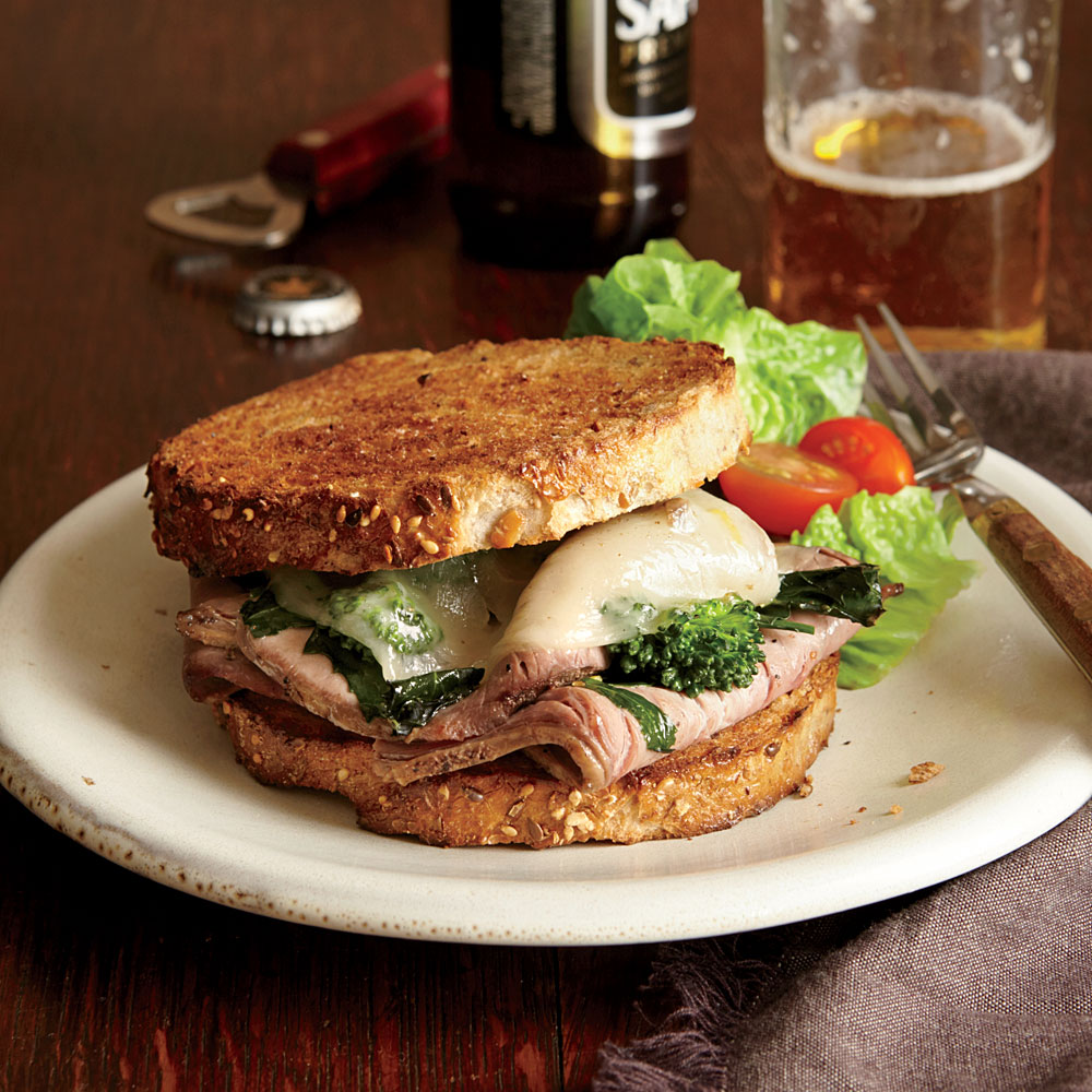 Roast Beef Broccoli Rabe Amp Provolone Sandwiches Recipe Myrecipes