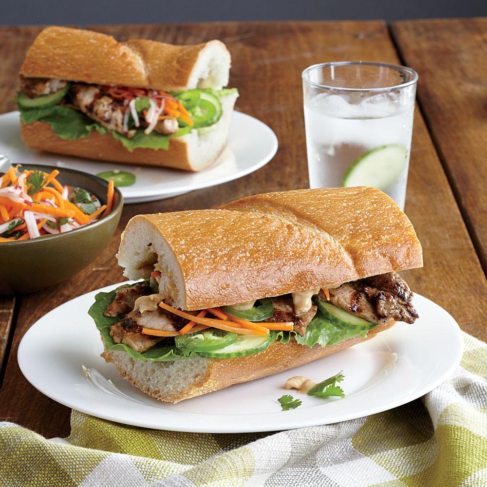 Ginger-Soy Pork Loin Sandwiches