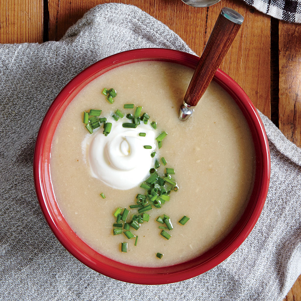 Creamy Celery Root and Sweet Onion Soup