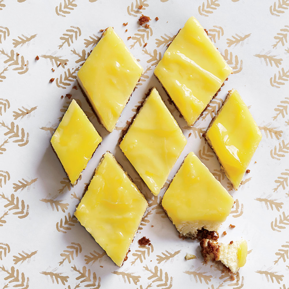 Lemon Cheesecake Bars with Gingersnap Crust