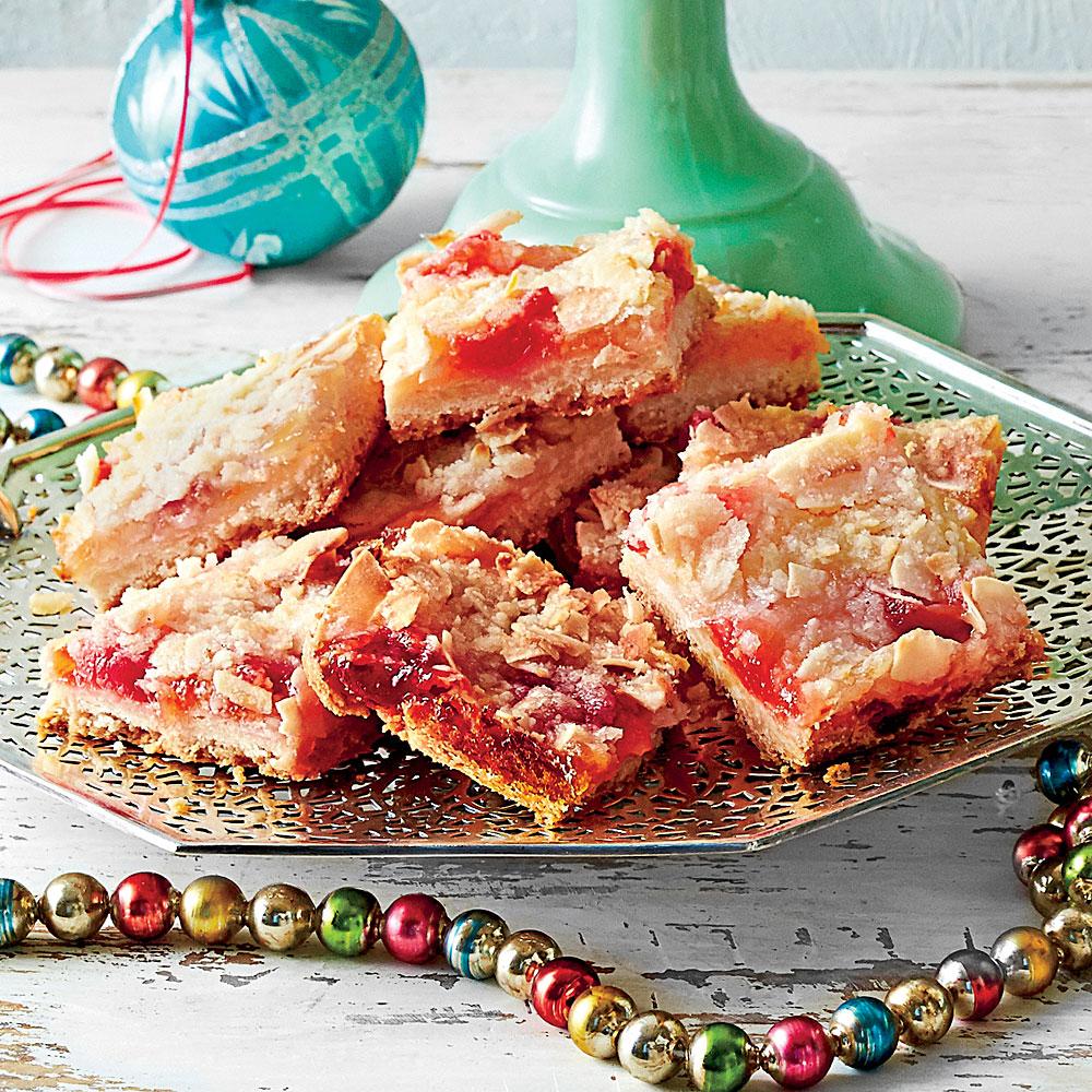 Ambrosia Streusel Bars with Shortbread Crust Recipe | MyRecipes.com