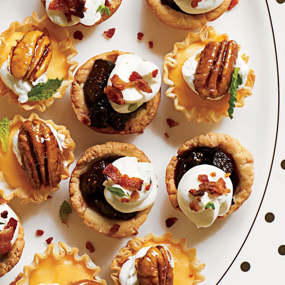 Bacon-Fig Tassies