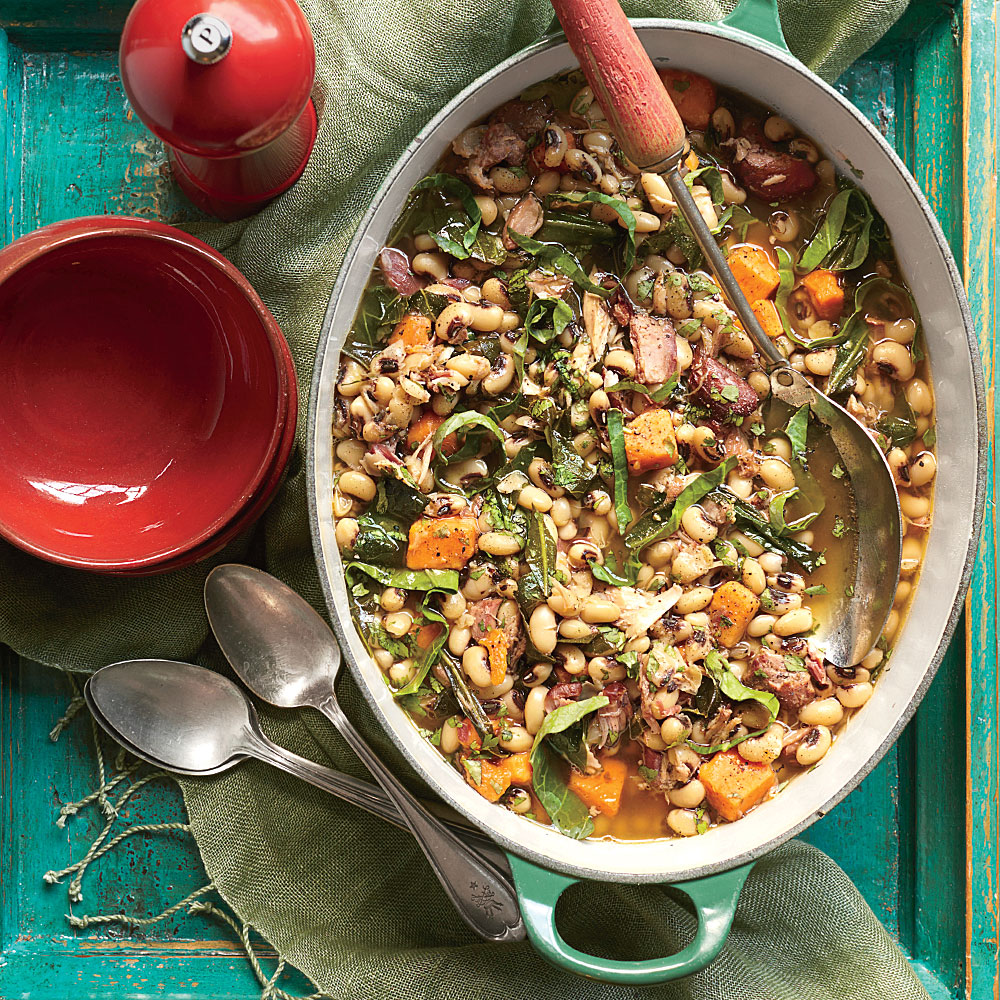 Black-Eyed Pea, Collard, and Sweet Potato Stew Recipe | MyRecipes
