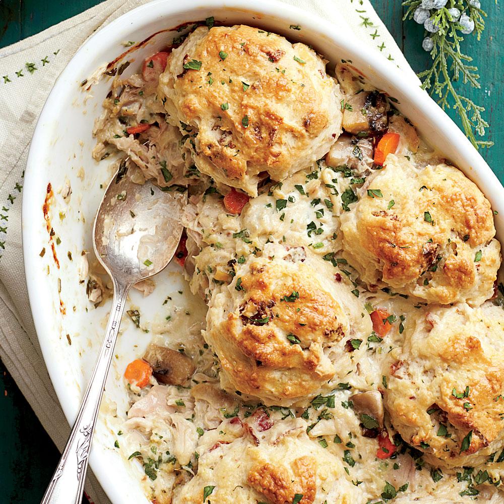 Chicken-and-Biscuit Cobbler