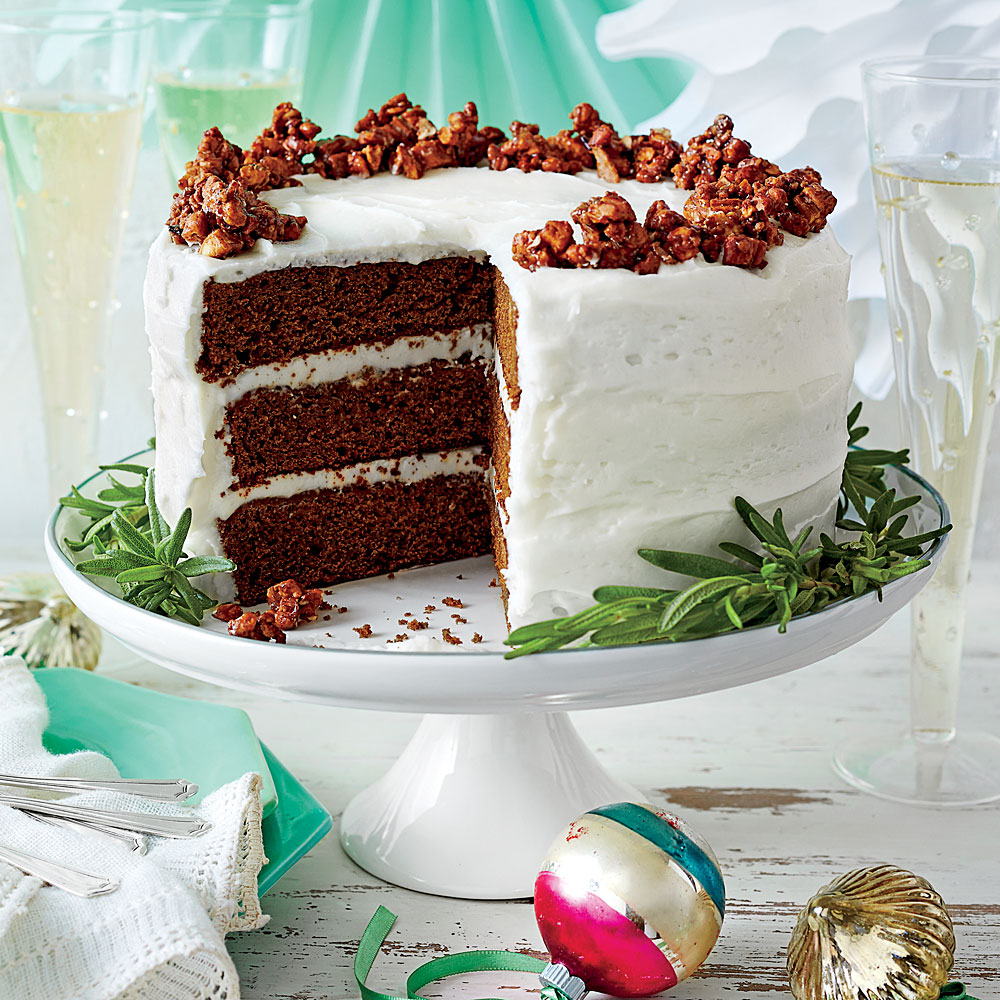 Good Cake Icing Recipes: Gingerbread Cake With Buttermilk Frosting Recipe