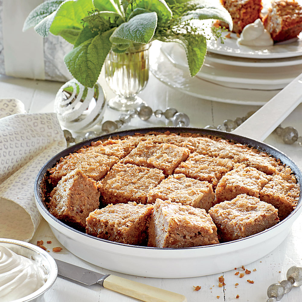 Gluten-Free Buttermilk-Pecan-Walnut Cake                            RecipeThis light and fluffy cake is a perfect accompaniment to your morning cup of joe.
