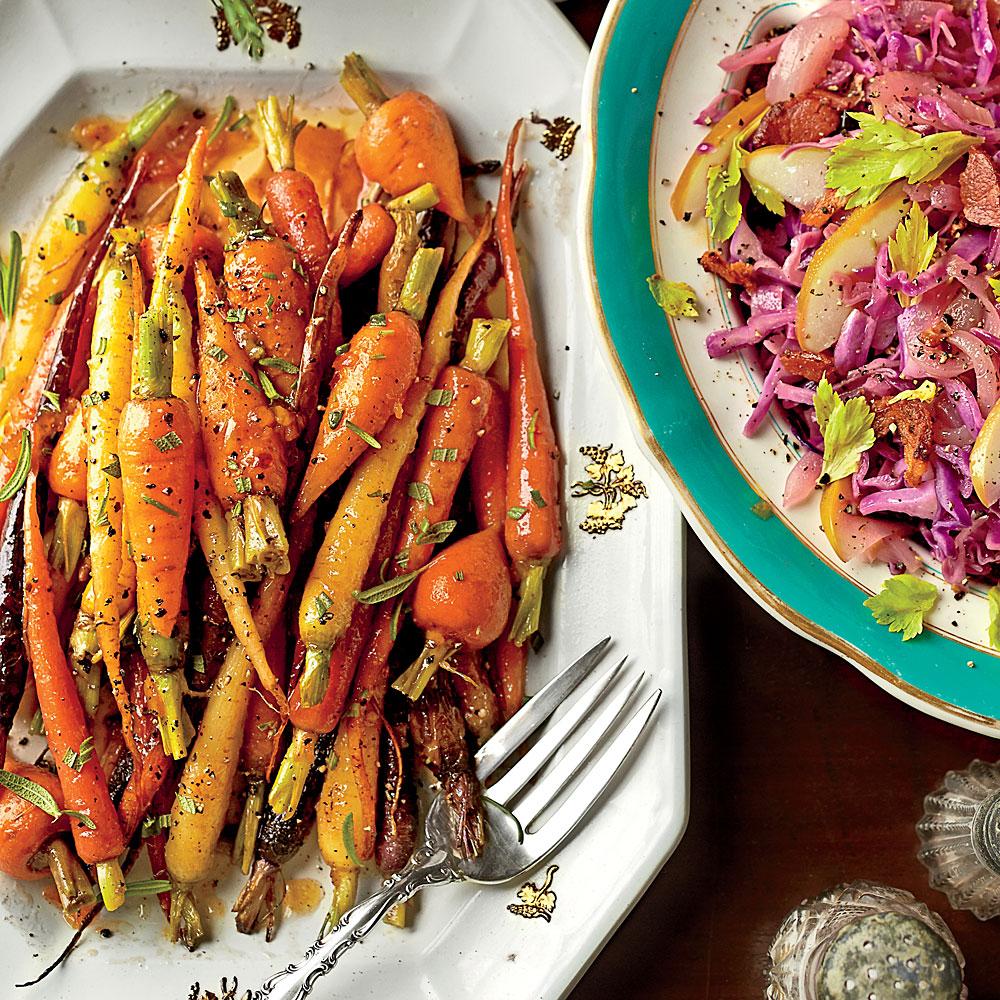 Orange-Ginger-Chile-Glazed Carrots