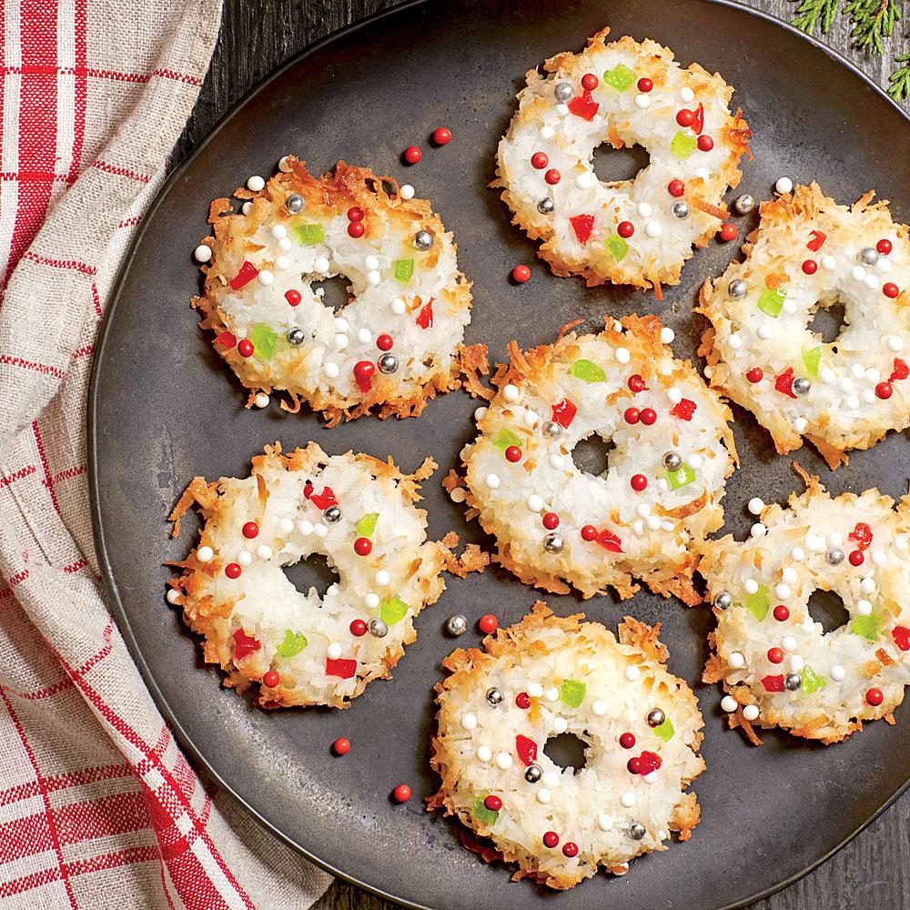 Wreath Macaroons Recipe Myrecipes
