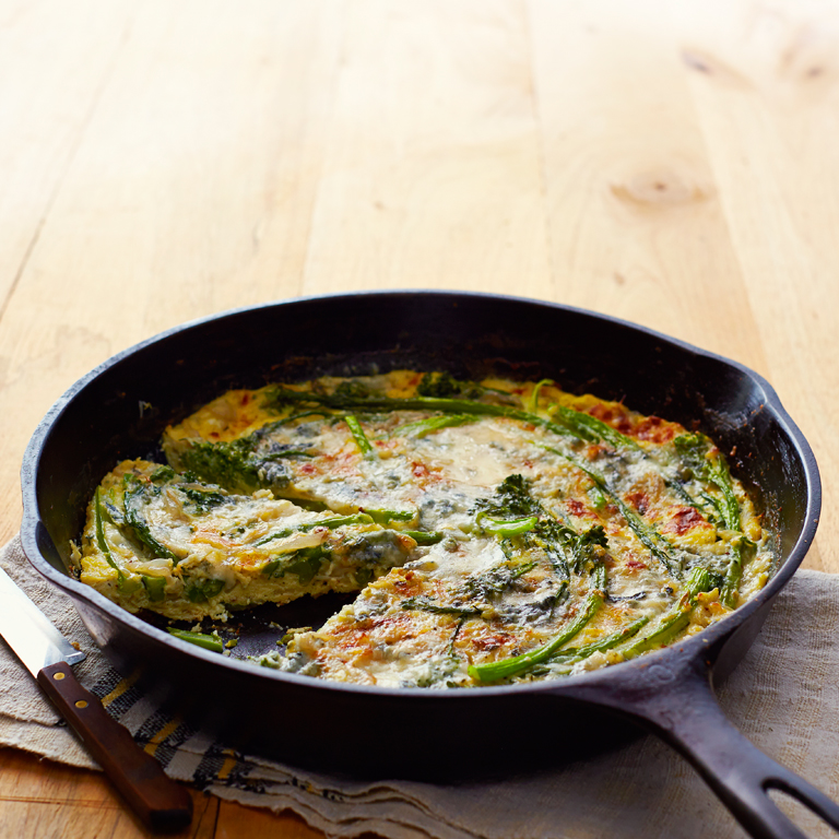 Broccolini and Blue Cheese Frittata