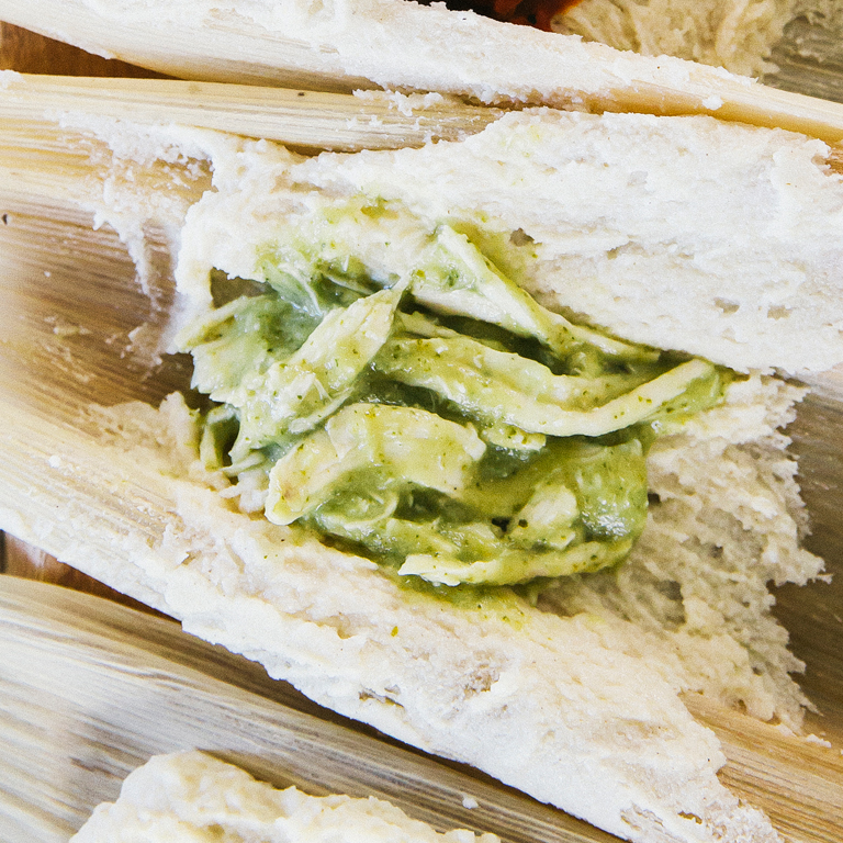 Chicken and Green Tomatillo Tamale Filling