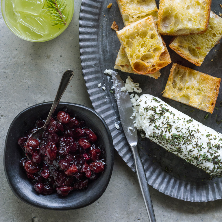 Five-Spice Cranberry Relish with Goat Cheese