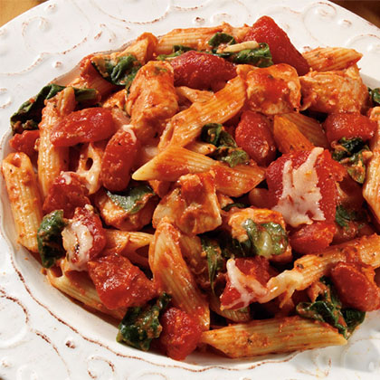 how to make three cheese chicken penne