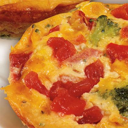 Crustless Broccoli & Cheddar Mini Quiches