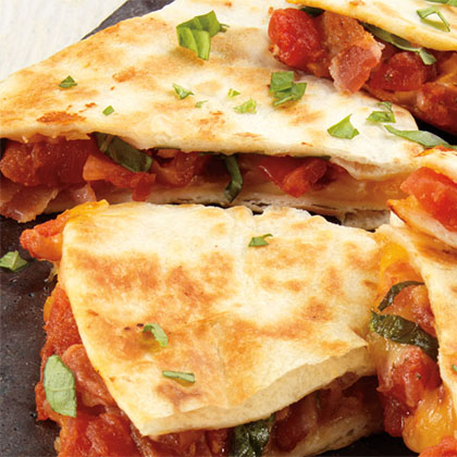 Bacon and Tomato Quesadillas