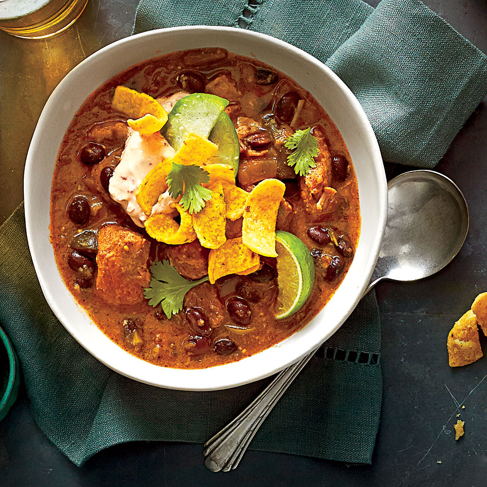 Pork-and-Black Bean Chili Recipe | MyRecipes
