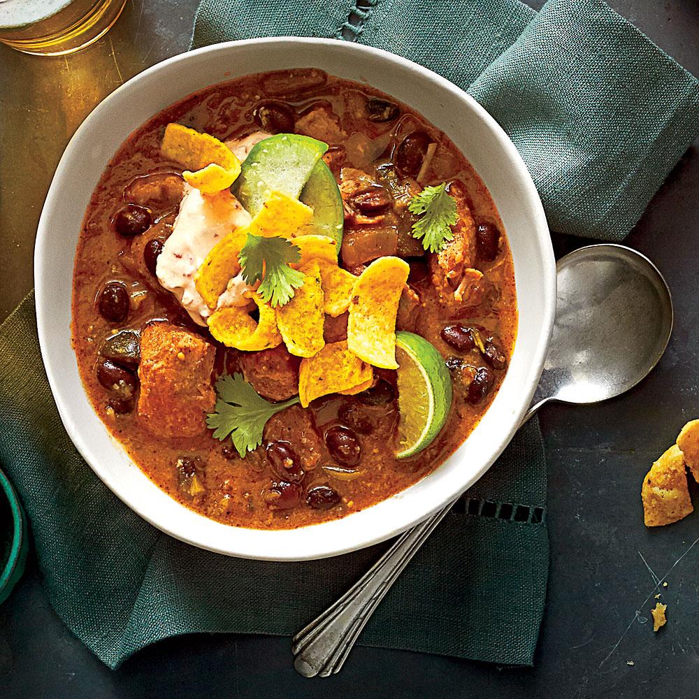 Pork-and-Black Bean Chili
