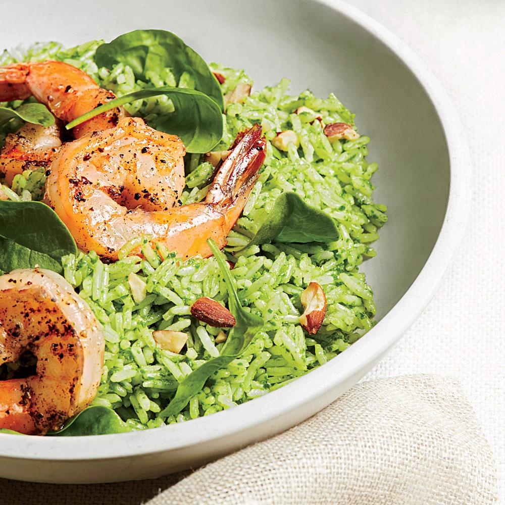 Shrimp and Pesto-Rice Salad